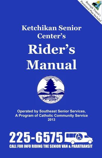 Rider's Manual - Ketchikan Gateway Borough