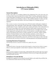 Introduction to Philosophy (PHIL) CTY Course Syllabus