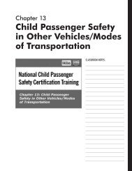 Child Passenger Safety in Other Vehicles/Modes of Transportation