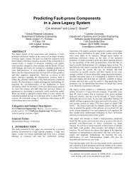 Predicting Fault-prone Components in a Java Legacy System