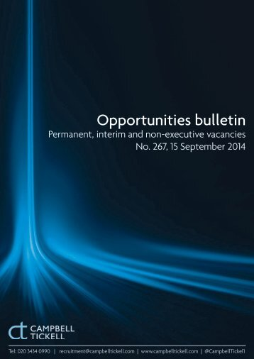 CT Opportunities Bulletin 267 150914