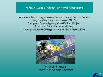 Case 2 retrieval algorithms - Roland Doerffer - Data User Element