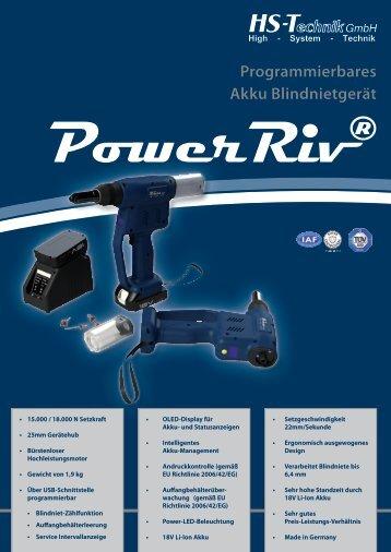 PowerRiv® Programmierbares Akku Blindnietgerät - HS-Technik