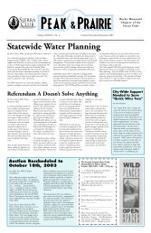 Oct/Nov/Dec 2003 - Sierra Club Rocky Mountain Chapter