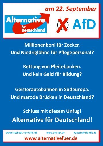 Alternative für Deutschland! am 22. September