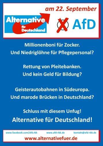 Alternative für Deutschland! am 22. September