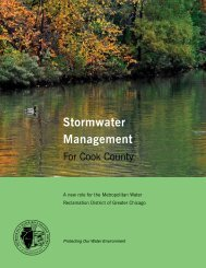 Stormwater Management - Metropolitan Water Reclamation District ...