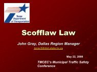 Scofflaw Law - Texas Municipal Courts Education Center