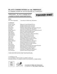 Wisconsin subset of Plant Communities of the ... - NatureServe