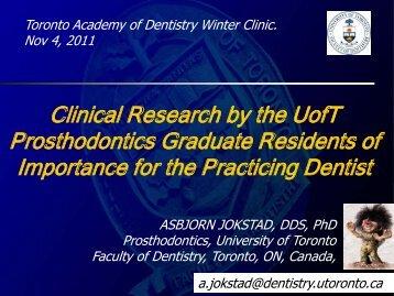 Slide adopted from: Dr. Joseph Fava - Asbjorn Jokstad, Professor ...