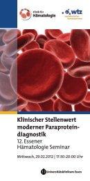 Klinischer Stellenwert moderner Paraprotein- diagnostik - Binding Site