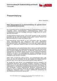 Pressemitteilung der Senatsverwaltung - Architekten- und Ingenieur ...