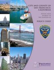 City and County of San Francisco Police Chief.pmd - Bob Murray ...