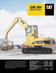 320C MH Material Handler AEHQ5384-01 - Kelly Tractor