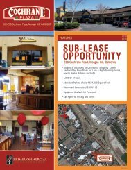 Sub-LeaSe OppOrtunity - Prime Commercial, Inc
