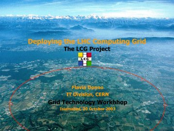 Deploying the LHC Computing Grid - National Centre for Physics