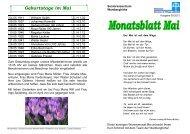 Monatsblatt Mai
