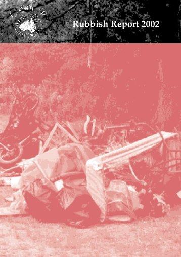 Clean Up Australia Rubbish Report 2002