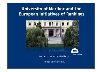 Dr. Lucka Lorber&Marko Marhl - International Observatory on ...