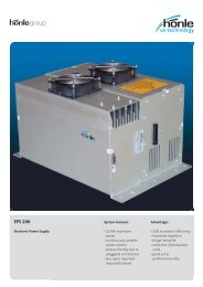 Product information Electronic Power Supply EPS 200 - Dr. Hönle AG