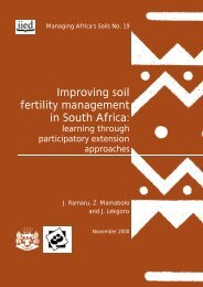 Improving soil fertility management in South Africa: - IMAWESA