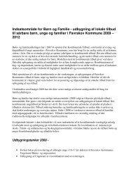 Indsatsområde for Børn og Familie - udbygning af lokale tilbud til ...