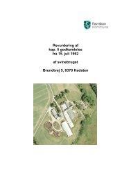 revurdering af svineproduktion Brundtvej 5, 8370 Hadsten