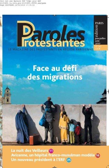 Face au défi des migrations - Migration 2010