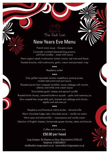 RL NY Menu 22-12-11:Layout 1 - The Red Lion, Long Compton