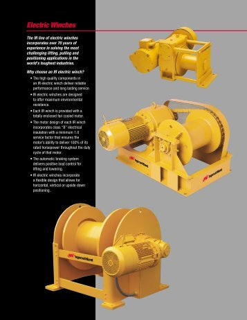Electric Winches - CH Reed Inc.