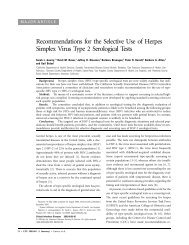 Recommendations for the Selective Use of Herpes Simplex Virus ...