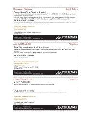 Super Saver Side Seating Special Free Gemstone with Adult - Denver