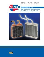 HTR - CARQUEST Heater Core Application Guide