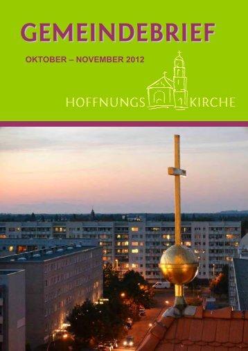 Oktober - November 2012 - Hoffnungskirche zu Pankow