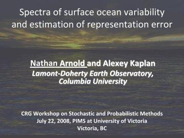 Estimating Modeling Error from Altimetry and Tide Gauge Spectra