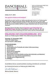 Download Einladung Vollversammlung - Dance Hall
