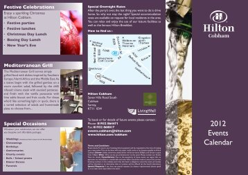 2012 Events Calendar