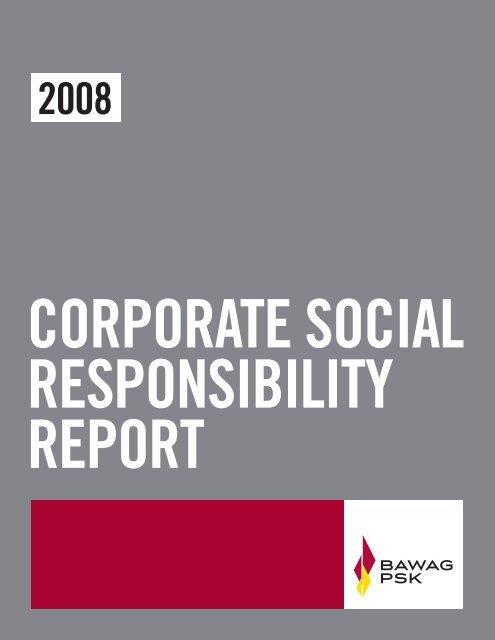 Corporate Social Responsibility report - Bawag