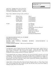 MINUTES - MORRO BAY CITY COUNCIL REGULAR MEETING ...