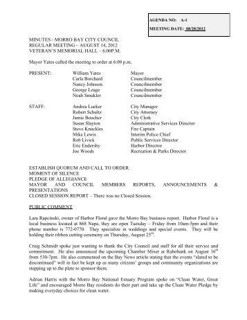 Morro Bay City Council Meeting