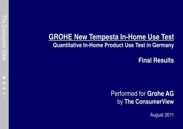 Final Results New Tempesta - GROHE