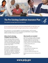 The Pre-Existing Condition Insurance Plan
