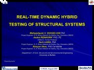real-time dynamic hybrid testing of structural systems - nees@Buffalo