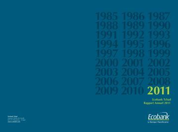 Ecobank Tchad Rapport Annuel 2011