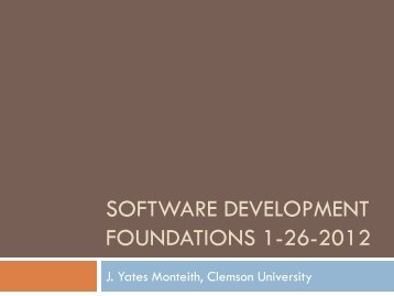 Lecture 5 - Clemson University