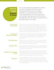 Senior Care: - ABILITY Network Inc