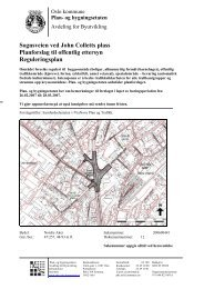 Sognsveien ved John Colletts plass Planforslag til offentlig ettersyn ...