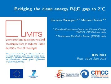 Bridging the Clean Energy R&D Gap to 2 °C - World Energy Outlook