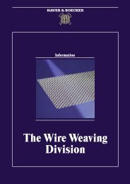 The Wire Weaving Division - Haver & Boecker