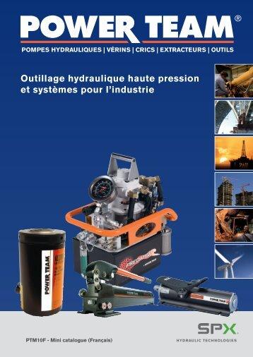 Outillage hydraulique haute pression et systèmes ... - Power Team
